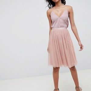 Anthro Needle & Thread Tulle Skirt midi